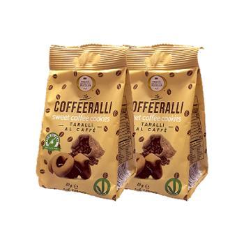 哈得斯 意大利进口 意式咖啡味甜甜圈 80g*2袋