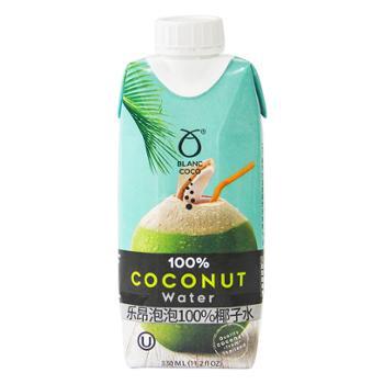 乐昂 泰国进口 泡泡100%椰子水 330ml*12盒