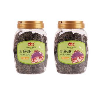 野娃 黑芝麻糖 500g*2罐