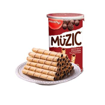 马奇新新 马来西亚进口巧克力威化注心威化卷 85g*2罐