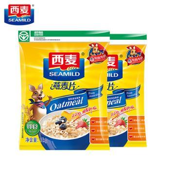 西麦 即食燕麦片 1kg*2袋