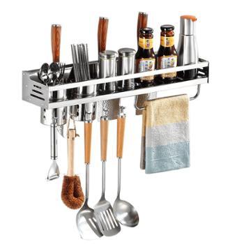 意善厨房置物架不锈钢刀架调料收纳架