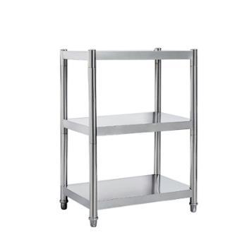 意善厨房置物架不锈钢四层微波炉收纳架