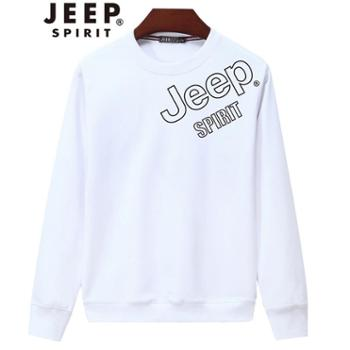 JEEP/吉普男棉长袖圆领卫衣外套JPCS5011J