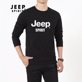 JEEP/吉普男棉长袖圆领套头卫衣JPCS5014J