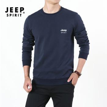 JEEP/吉普男长袖运动印花卫衣HL-SS65001