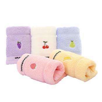 洁丽雅/grace 毛巾五条礼盒装纯棉儿童巾 纯棉