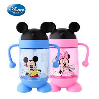 迪士尼水杯儿童吸管杯手柄学饮杯350ML