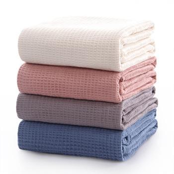 图强华夫格毛巾被(纱布盖毯)全棉105*150cm1条