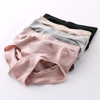护花天使日系无缝蜂巢暖宫女士内裤女 纯棉裆3D收腹提臀无痕三角内裤