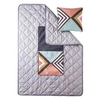 莫二帆布抱枕被子现代简约全棉1个装