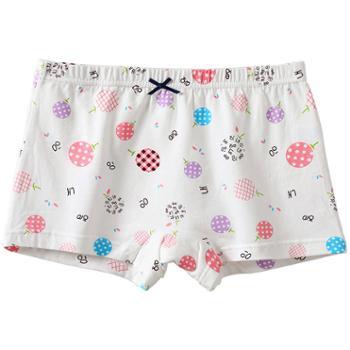 俞兆林女童平角内裤纯棉印花4条装