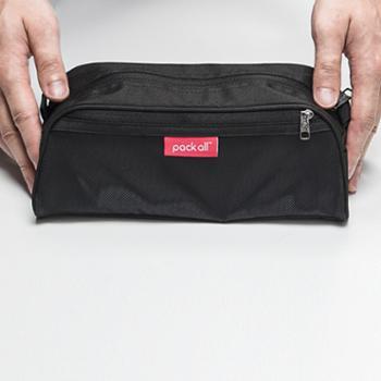 美国Packall旅行套装洗漱包男士女防水出国旅游便携出差大容量商务收纳袋化妆包收纳包经典黑色