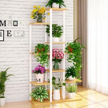 创意花盆架子良木多层落地式置物架阳台客厅多功能盆栽花架九层款