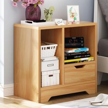简约床头柜卧室现代床头柜客厅储物柜简易床边收纳柜多功能创意小柜儿良木单斗款