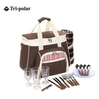 Tri-polar户外包郊游包家庭餐具包用品套装包便携包烧烤野炊便当包单肩手提包野餐包户外包旅行包