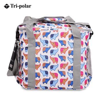 Tri-polar户外包多功能包野餐包大容量包保质保温包卡通印花便当包饭盒包