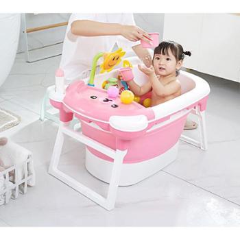 婴儿用品儿童洗澡桶大号折叠宝宝浴桶 婴儿浴盆泡澡桶洗澡盆