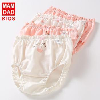 女童内裤A类纯棉跨境热销婴幼儿三角面包裤女童三角裤