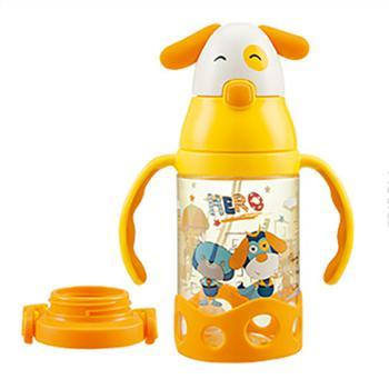 婴侍卫消防员双耳防喷学饮杯(430毫升/配背带)TMY-4392
