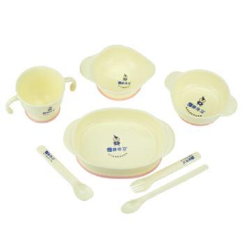 婴侍卫多功能儿童餐具套餐(软勺+防滑碗)