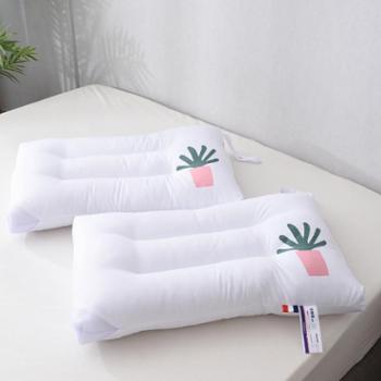 小清新仙人掌水洗棉印花枕芯 四角透气 带挂绳 可机洗水洗
