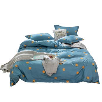 网红款春夏纯棉加密印花四件套 舒适床上用品套件