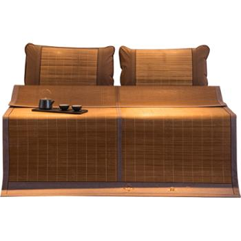 心恋巢生态水磨竹席 刺绣宽边竹凉席 正反两用席 背面立体印花设计