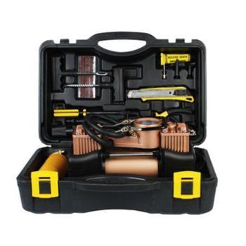 车载充气泵金缸体大功率轮胎打气泵汽车工具箱双缸充气泵金属把真-工具箱款