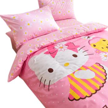 Hello Kitty 卡通全棉亲肤活性印染四件套 纯棉