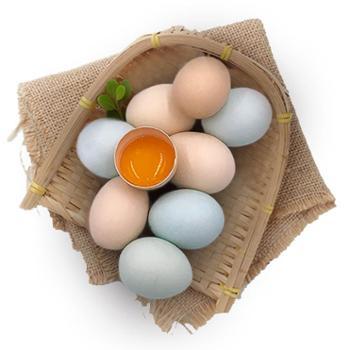 稻谷泉农家散养土鸡蛋40枚/箱