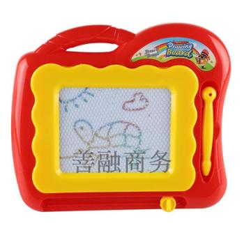 乐童童早教益智玩具 磁性写字画板 小号宝宝绘画涂鸦板 彩色学习练字2-3-6岁 小号