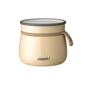 日本mosh清新可爱简约治愈便携焖烧杯保温不锈钢拿铁焖烧罐350ml