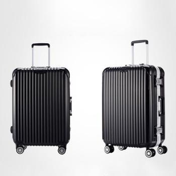 铝框旅行箱男女学生密码拉杆箱万向轮20寸合金金属行李箱登机箱子加大托运旅行箱Z-MSR023