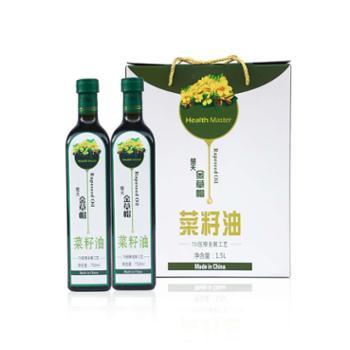 金草帽 7D功能型菜籽油礼盒 750ml*2瓶