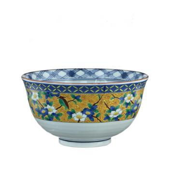 美浓烧日本进口创意高脚陶瓷餐具面拉面碗