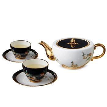 夫人瓷石榴家园6头中式茶具