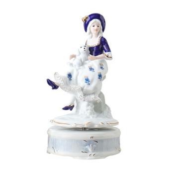 金和汇景海伦陶瓷蕾丝八音盒音乐盒童话人物造型