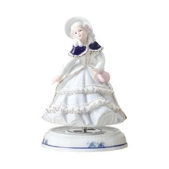 金和汇景爱丽斯陶瓷蕾丝八音盒音乐盒童话人物造型