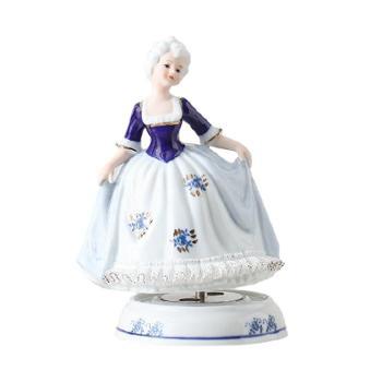 金和汇景伊丽莎白陶瓷蕾丝八音盒音乐盒童话人物造型