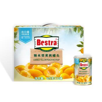 果秀倍思达出口级黄桃罐头宇秀杏鲍菇礼盒装黄桃1箱+200g*8杏鲍菇2箱