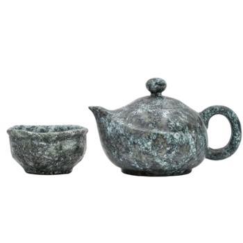 墨脱石锅茶具套装西藏墨脱皂石茶壶主人杯