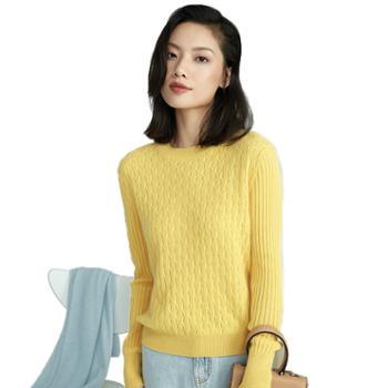 开顺针织无缝羊绒长袖套头衫FW20-102百分百山羊绒