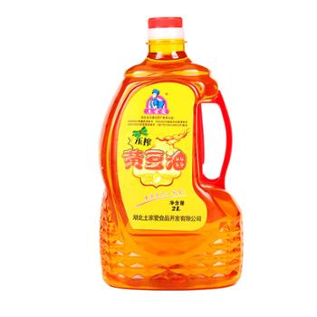 土家爱湖北恩施古法压榨黄豆油2L/桶