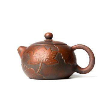 壶福源 钦州坭兴陶茶壶 红莲西施