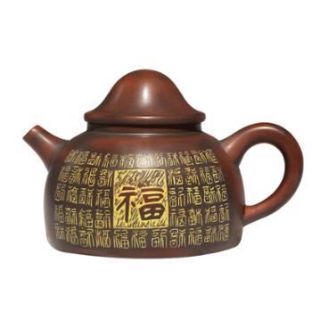 壶福源 钦州坭兴陶茶壶 百福具臻