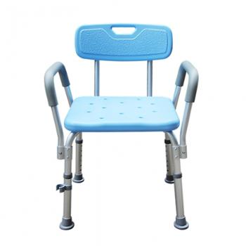 永爱蓝色沐浴椅老人铝合金洗澡椅