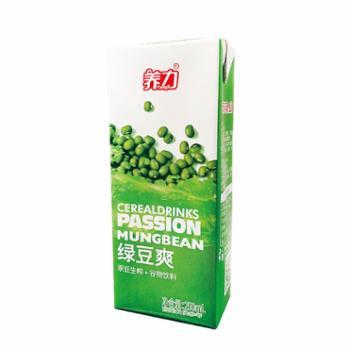 石埠绿豆爽谷物营养饮料饮品新鲜健康250ml*10盒