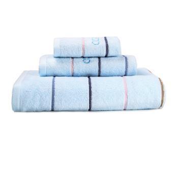 ELLE永恒之歌纯棉绣花毛巾三件套方巾面巾浴巾ELLE85241FELLE8