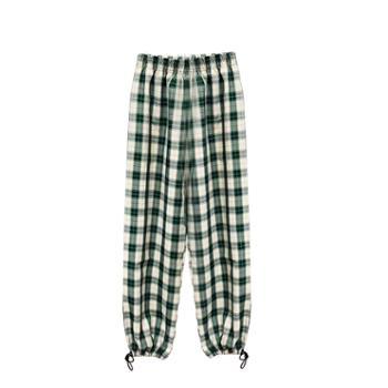 KPUWARM宽松垂感束脚格子裤春夏薄款2色可选ZJWJ-9603